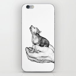 Wolf Cub // Graphite iPhone Skin