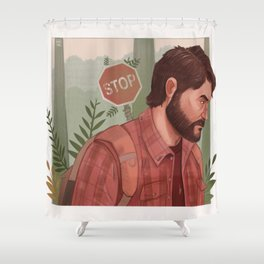 Joel (The Last Of Us) Shower Curtain