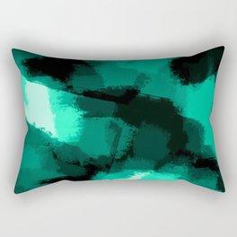 Emmy - Emerald green abstract art Rectangular Pillow