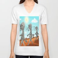 "dr seuss V-neck T-shirts featuring Dr. Seuss' ""Michael Stipe""  by Christopher Caduto"