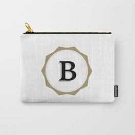 Vintage Letter B Monogram Carry-All Pouch