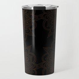 Black Mandala Pattern Travel Mug