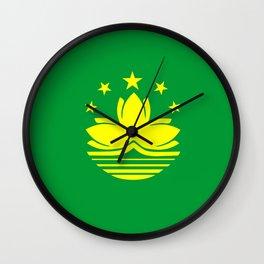 Macau country flag Wall Clock