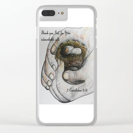 His Indescribable Gift Clear iPhone Case