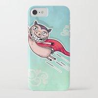 superhero iPhone & iPod Cases featuring Superhero by Aleksandra Jevtovic