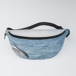 Leaping Wild Dolphin - Retro style illustration Fanny Pack