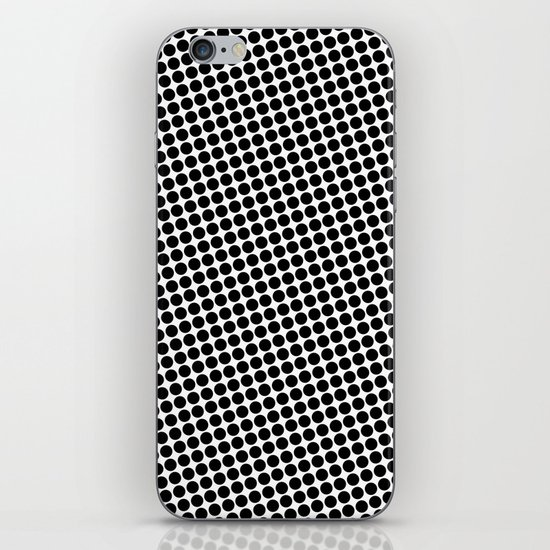 BLACK DOT iPhone & iPod Skin