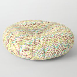 Colorful abstract modern geometrical chevron pattern Floor Pillow