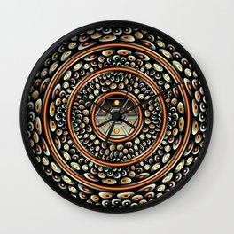 Dark metal and jewels Wall Clock