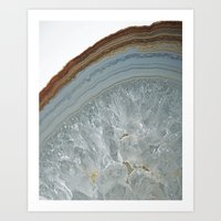 agate Art Prints featuring Agate by CAROL HU