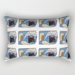 What time is it Mr. Wolf? Rectangular Pillow