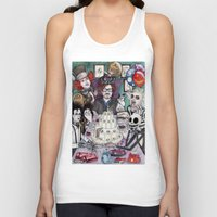 tim burton Tank Tops featuring TIM BURTON TEA PARTY by ●•VINCE•●