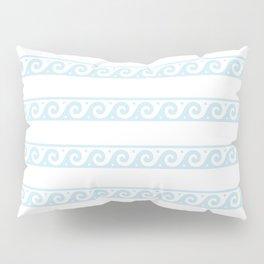 Mint blue Greek wave pattern Pillow Sham