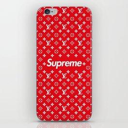 supreme x LV red iPhone Skin