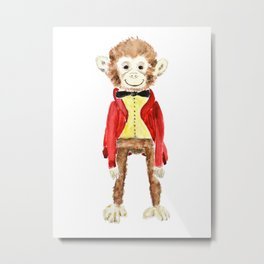 Mr Monkey Metal Print