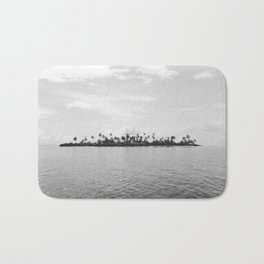 San Blas Islands, Panama - Black & White Bath Mat