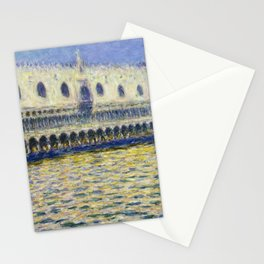 The Palazzo Ducale by Claude Monet Stationery Cards