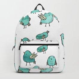 Flock Of Birds - Green Backpack