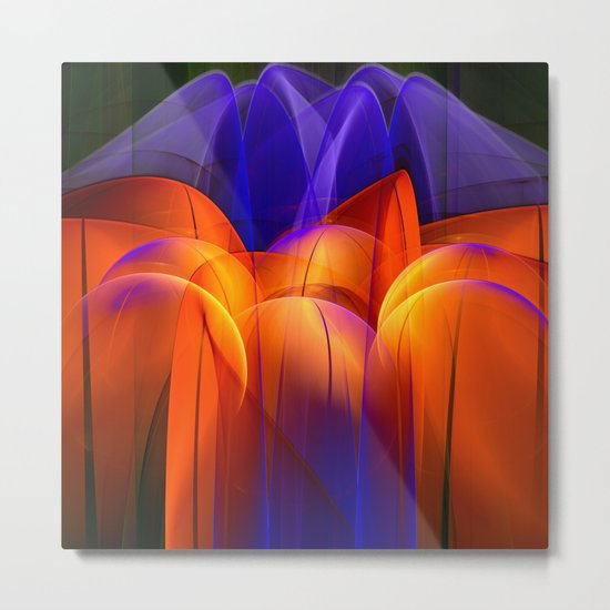 Abstract Energy Metal Print