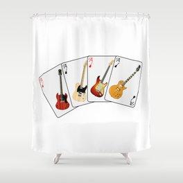 Guitar Hand Shower Curtain