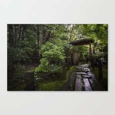 Stoney Path in the Rain Canvas Print