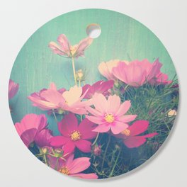 Pink Cosmos Cutting Board