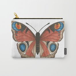 Peacock Butterfly Illustration Carry-All Pouch