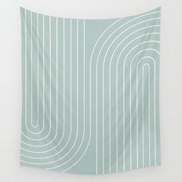 Minimal Line Curvature - Sage Wall Tapestry