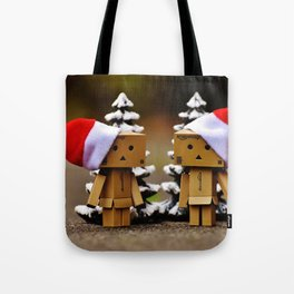 father and mother chrismass Tote Bag