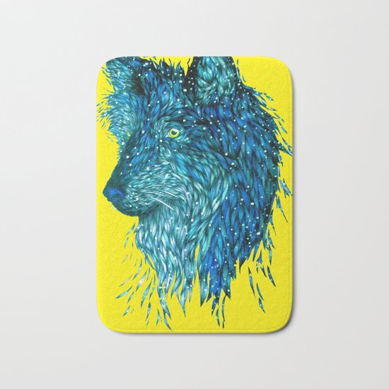 Pop Wolf Bath Mat
