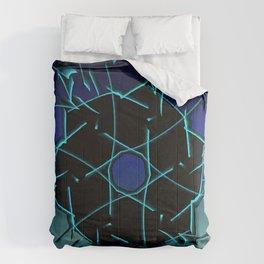 Black Geometry Circular Pattern Comforters