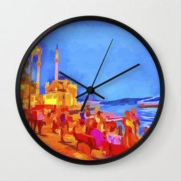 Istanbul Pop Art Wall Clock