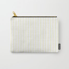 Vertical Lines (Cream/White) Carry-All Pouch