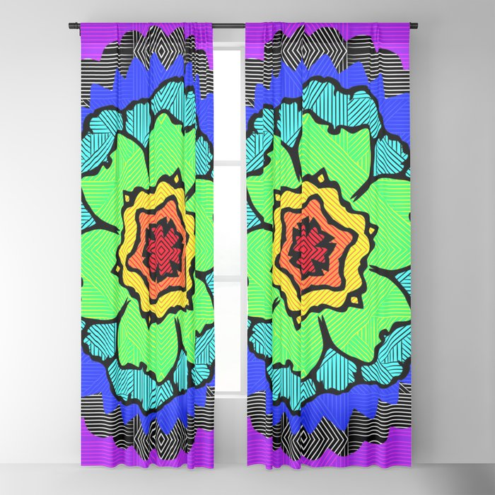 Rainbow Chakra Lotus Yoga Flower Blackout Curtain By Saburkitty Society6