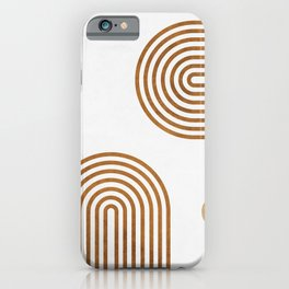 Jazzy Afternoon - Minimal Geometric Abstract - White 2 iPhone Case