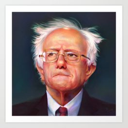 Bernie Sanders 46th President of the United States || UNOFFICIAL PRESIDENTIAL PORTRAIT PAINTING Art Print