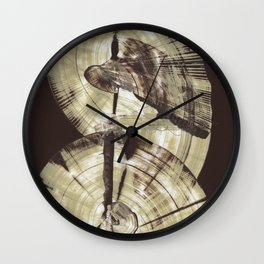 Concentric Log Abstract Wall Clock