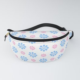 geometric flower 5 pink and blue Fanny Pack