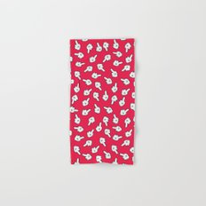 HATERS GONNA HATE! Pattern in red Hand & Bath Towel
