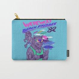 Werewolf Beach Frisbee Carry-All Pouch