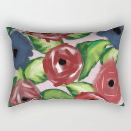 Patriotic Peonies Rectangular Pillow