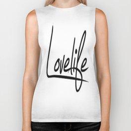 Love Life Word Art Biker Tank