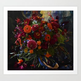 Red & Orange Bouquet Art Print