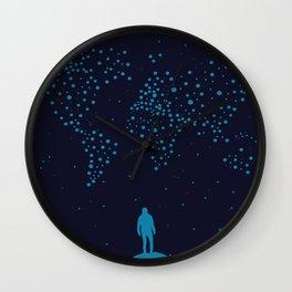 Stars world map - Man Wall Clock