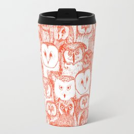 just owls flame orange Travel Mug