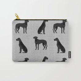 Great Dane black coat valentines day dog breed dog must haves Carry-All Pouch