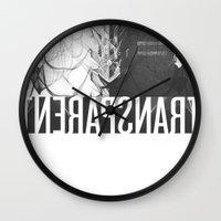 transparent Wall Clocks featuring Transparent by GarthIvan