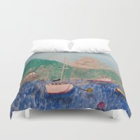 boats Duvet Covers featuring boats by L Step