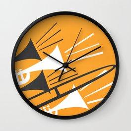 Brass Instruments Wall Clock