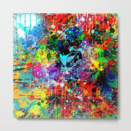 Splatter Pattern Metal Print
